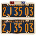 California YOM License Plate Frames For Sale