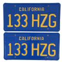 1970 - 1980 CA License Plates For Sale