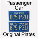 1970 - 1980 Original Passenger Car Plates