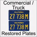 1970 - 1980 Restored Commercial Truck Plates