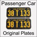 1940 - 1946 Original Passenger Car Plates