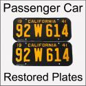 1940 - 1946 Restored Passenger Car Plates