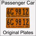 1929 - 1939 Original Passenger Car Plates