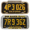 Original, Vintage, Antique Dealer License Plate Frames For Sale