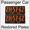 1929 - 1939 Restored Passenger Car Plates