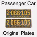 1920 - 1928 Original Passenger Car Plates