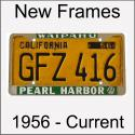 Original Vintage Antique Dealer License Plate Frames For