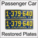 1920 - 1928 Restored Passenger Car Plates