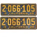 1920 - 1928 CA License Plates For Sale