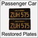 1963 - 1969 Restored Passenger Car Plates