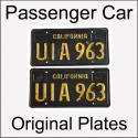 1963 - 1969 Original Passenger Car Plates