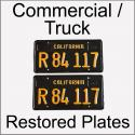 1963 - 1969 Restored Commercial / Truck Plates