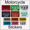 CA YOM DMV Motorcycle Stickers
