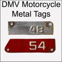 CA YOM DMV Motorcycle Metal Tags For Sale