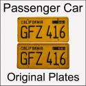 1956 - 1962 Original Passenger Car Plates