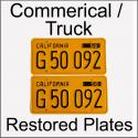 1956 - 1962 Restored Commercial / Truck Plates