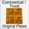 1956 - 1962 Original Commercial / Truck Plates