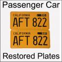 1956 - 1962 Restored Passenger Car Plates
