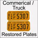 1947 - 1955 Restored Commercial / Truck Plates