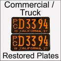 1929 - 1939 Restored Commercial / Truck Plates
