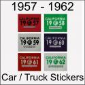 CA YOM DMV Car / Truck / Trailer Stickers