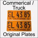 1929 - 1939 Original Commercial / Truck Plates