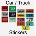 CA YOM DMV Car Truck Stickers