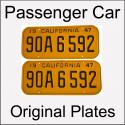 1947 - 1955 Original Passenger Car Plates