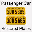 1947 - 1955 Restored Passenger Car Plates