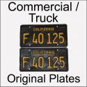 1963 - 1969 Original Commercial / Truck Plates