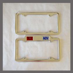 California YOM License Plate Frames Pair 1956 - Current for DMV Month Year Stickers