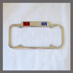 California YOM License Plate Frame 1940 - 1955 for DMV Month Year Stickers