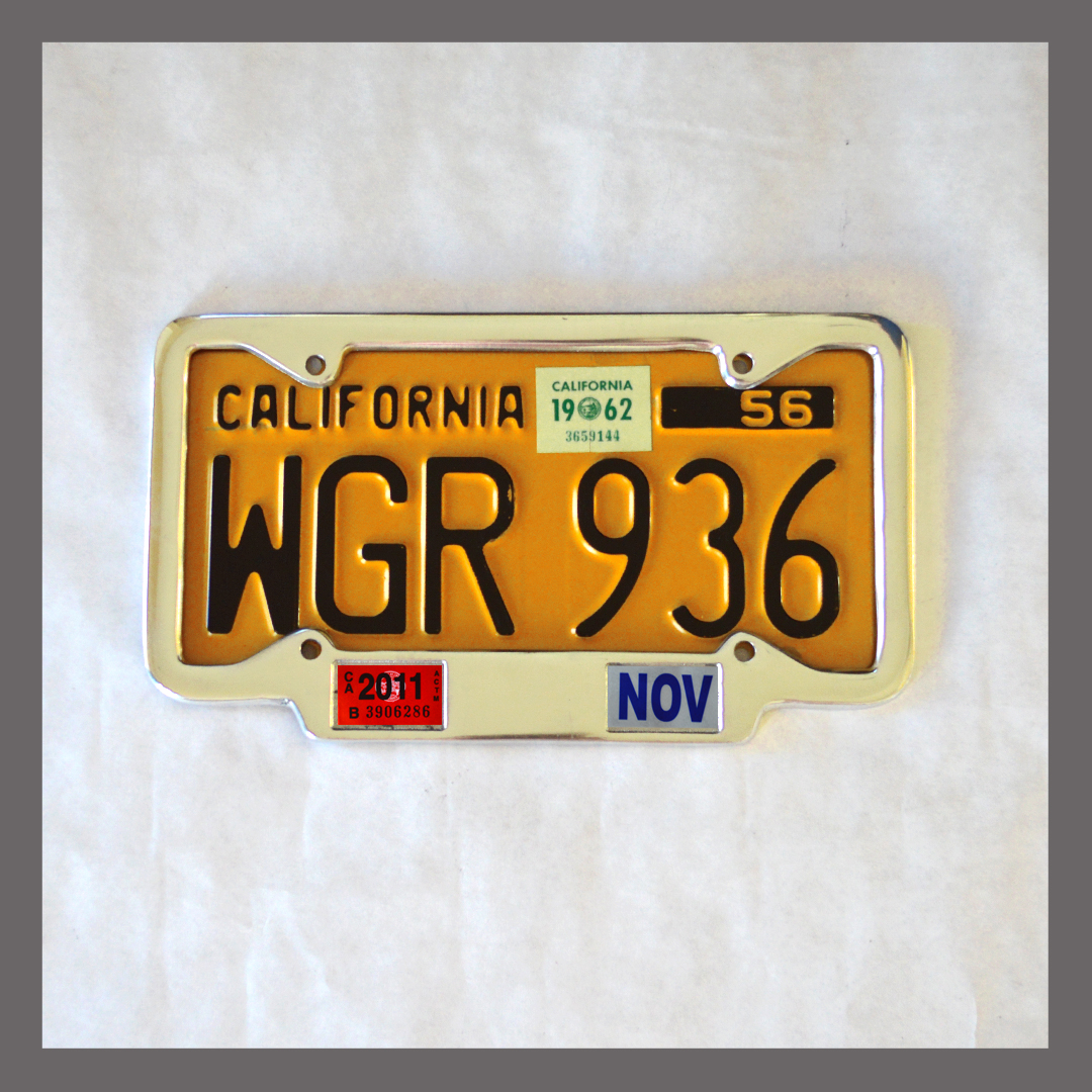 California YOM License Plate Frame 1956 - Current for DMV Month ...