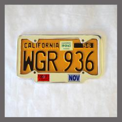 California YOM License Plate Frame 1956 - Current for DMV Month Year Stickers