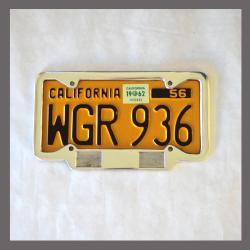 California YOM License Plate Frame 1956 - Current for DMV Month Year StickersCalifornia YOM License Plate Frame 1956 - C