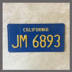 1970 - 1980 California YOM Trailer License Plate For Sale - Original Vintage JM6893