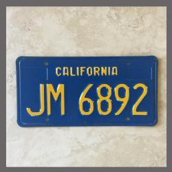 1970 - 1980 California YOM Trailer License Plate For Sale - Original Vintage JM6892