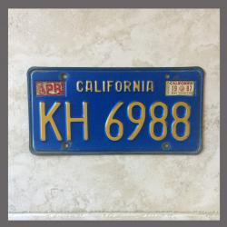 1970 - 1980 California YOM Trailer License Plate For Sale - Original Vintage KH6988