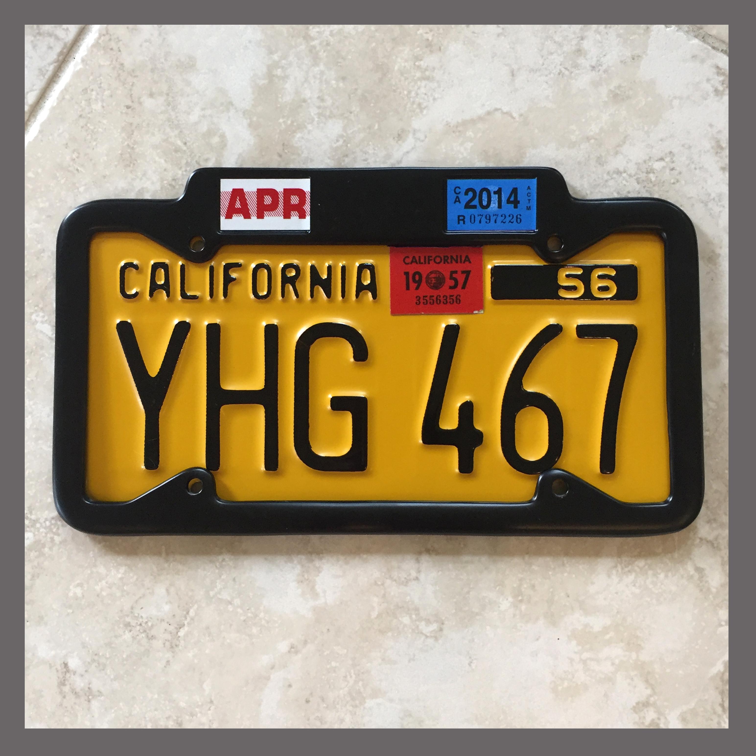 Black California YOM License Plate Frame 1956 - Current for DMV ...