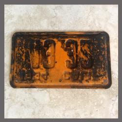 1934 California YOM Motorcycle License Plate For Sale - 4332