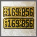 1925 California YOM License Plates For Sale - Original Vintage Pair 169856 Truck