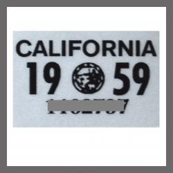 1959 California YOM DMV Motorcycle Sticker For Sale