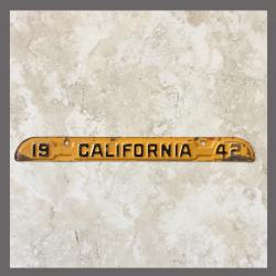 1942 California YOM DMV Metal Tag / Tab For Sale