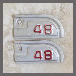 1948 California YOM DMV Metal Tags / Tabs For Sale
