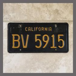 1963 California YOM Trailer License Plate For Sale - Original Vintage BV5915