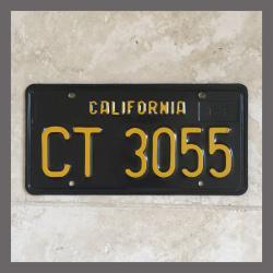 1963 California YOM Trailer License Plate For Sale - Original Vintage CT3055