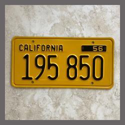 1956 California YOM Trailer License Plate For Sale - Original Vintage 195850 NOS