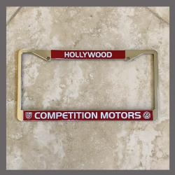 Hollywood Competition Motors Porsche VW Volkswagen License Plate Frame Hollywood California Dealer