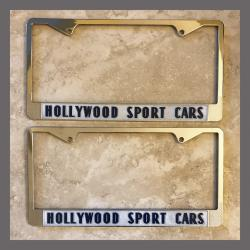 Hollywood Sport Cars Ferrari European Sports Cars License Plate Frames Pair Hollywood California Dealer
