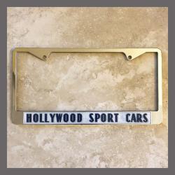 Hollywood Sport Cars Ferrari European Sports Cars License Plate Frame Hollywood California Dealer
